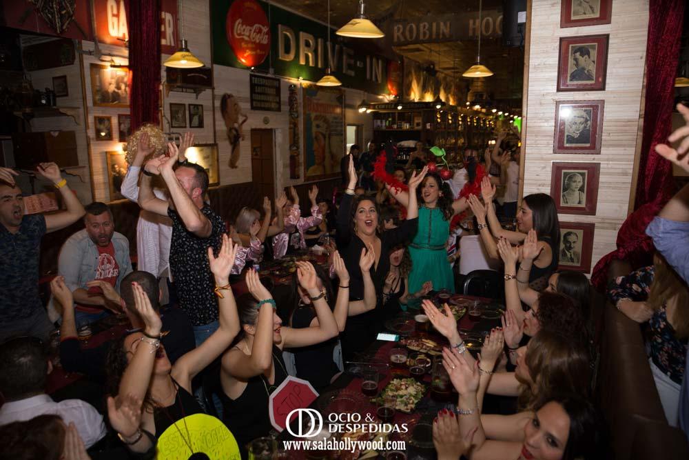 Fiesta de solteras en el centro de Málaga