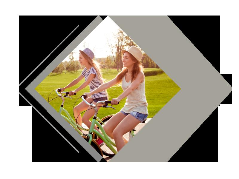 Paseos en bici, Actividad de ocio